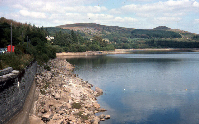 Burrator Reservoir in Devon, July 1976 by Crispin Purdye and licensed by CC BY-SA 2.0