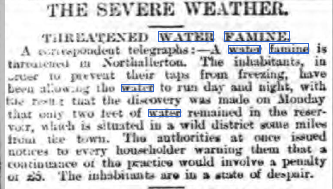 Litchfield Mercury, Friday 15th February 1895, page 6.
