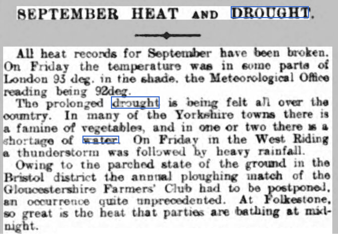 Reading Mercury 16th September 1911, page 4.